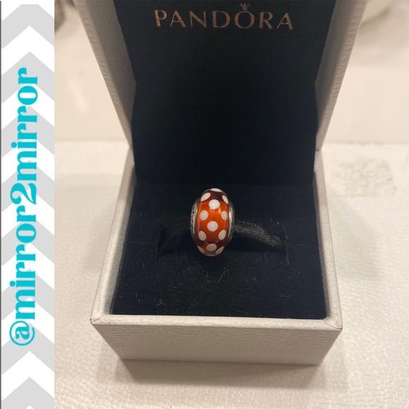 Pandora Other - 🎄Authentic Pandora Minnie Mouse Murano charm